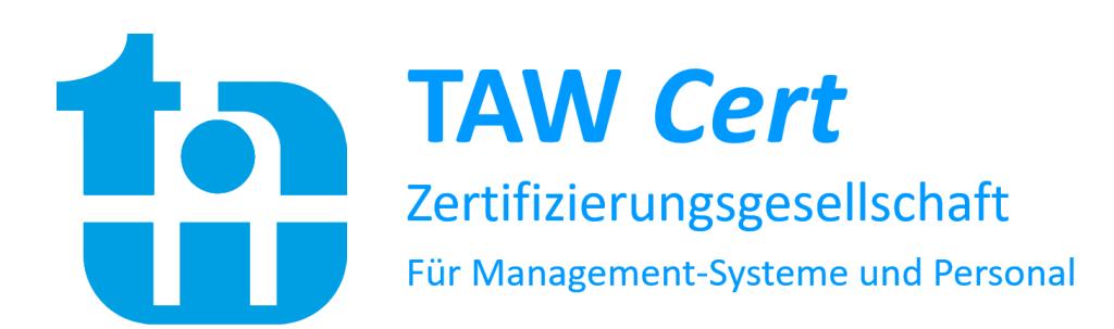 Logo der TAW Zertifizierungsgesellschaft