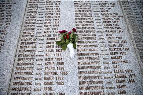 In July 1995, eight thousand Bosnian Muslim men and boys were killed by Bosnian Serb forces.