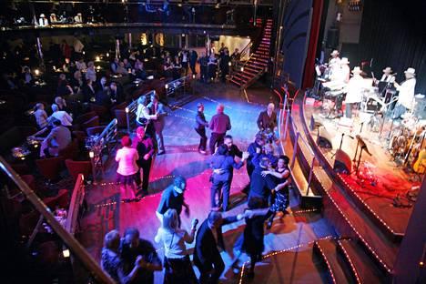 Dance floor of the Tallink Galaxy cruise ship in 2008.