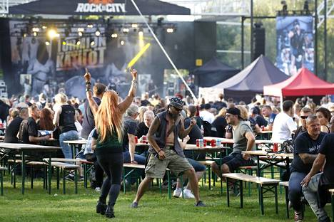 Last summer, festivals were held where everyone had to have a seat.  This summer, too, this must be the case at some public events.  Pictured is the Rock In The City festival in Pori.