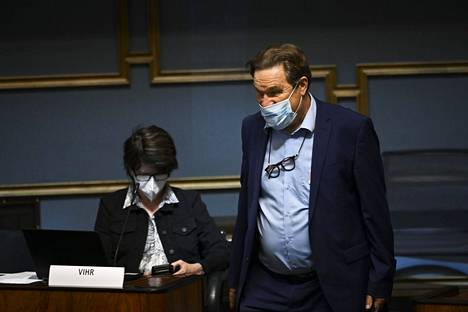 Member of Parliament Kimmo Kiljunen in Parliament in May.