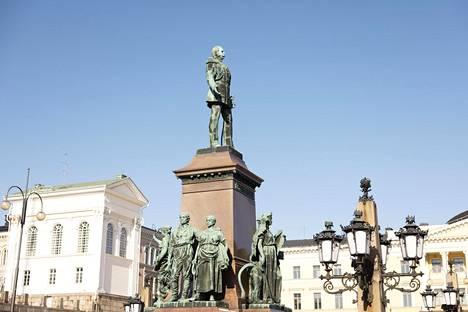 Monument to Emperor Alexander II at the Senate Square.  Sculptors: Johannes Takanen and Walter Runeberg (1894).