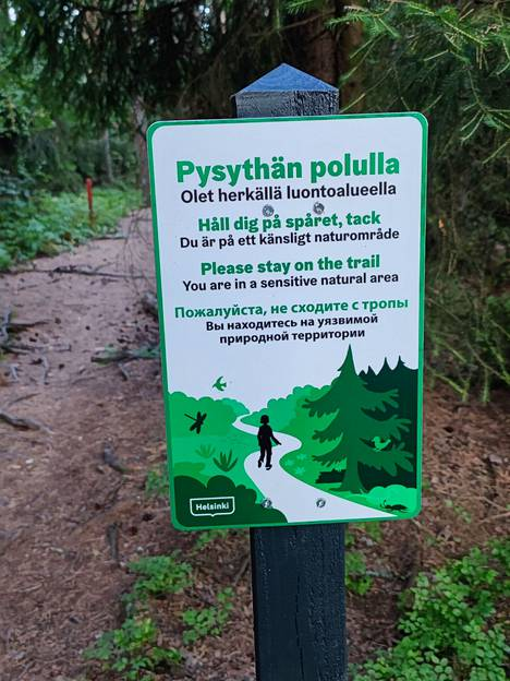 Plants and animals suffer if walkers in nature reserves do not follow directions.
