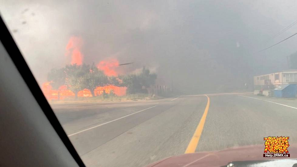 The city of Lytton was almost completely destroyed in a heat-induced fire in Canada on Thursday.