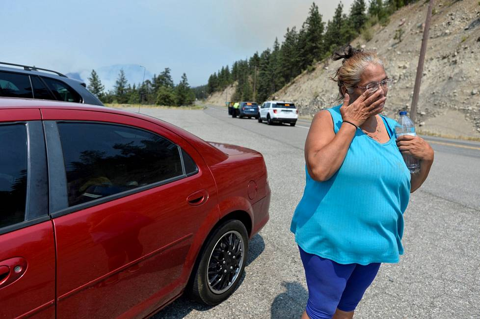 Martha Van Dyke and other residents of the city of Lytton were evacuated from a fire raging in the area on Thursday.