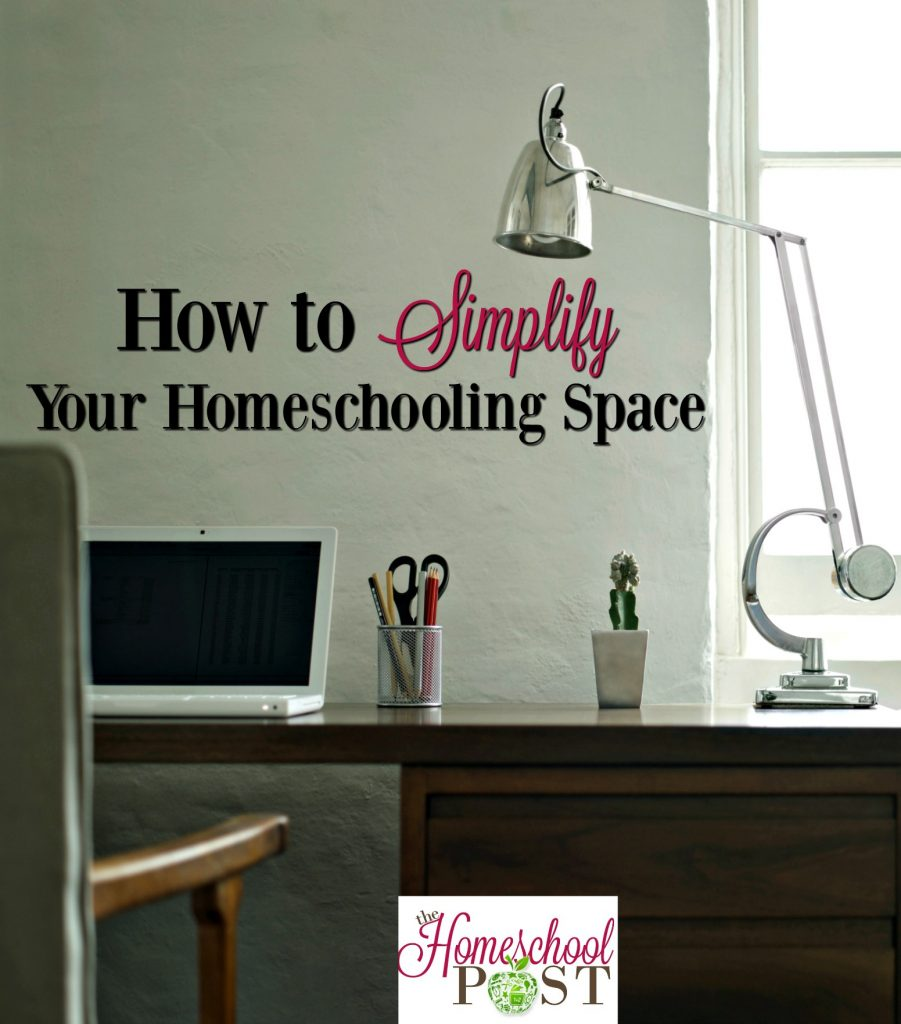 5 Steps to Simplifying Your Homeschool Space. Organize, declutter, and clean up your homeschooling space.