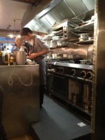 Le chef en cuisine