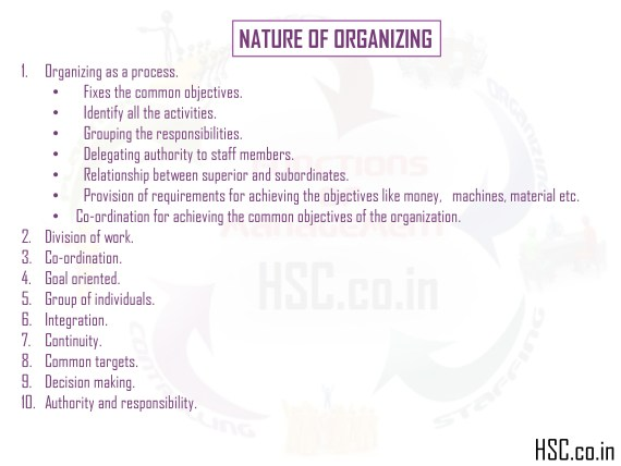 nature of organization
