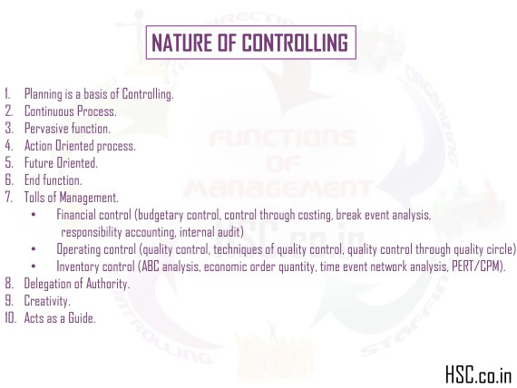 nature of controlling