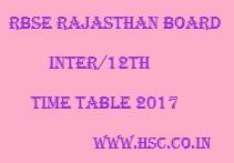 Rajasthan Date Sheet 2017