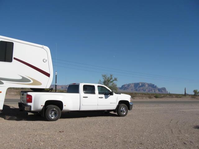 Off the road in Quartzsite, Arizona.