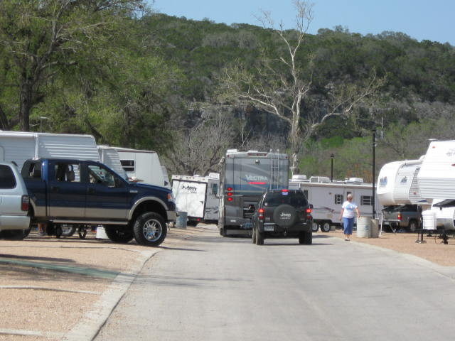 Traffic jam in the campground!