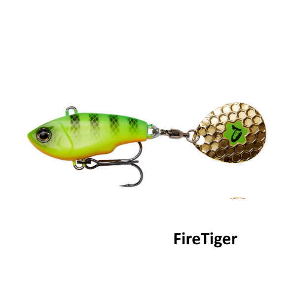 fat tail spin 5cm fire-tiger