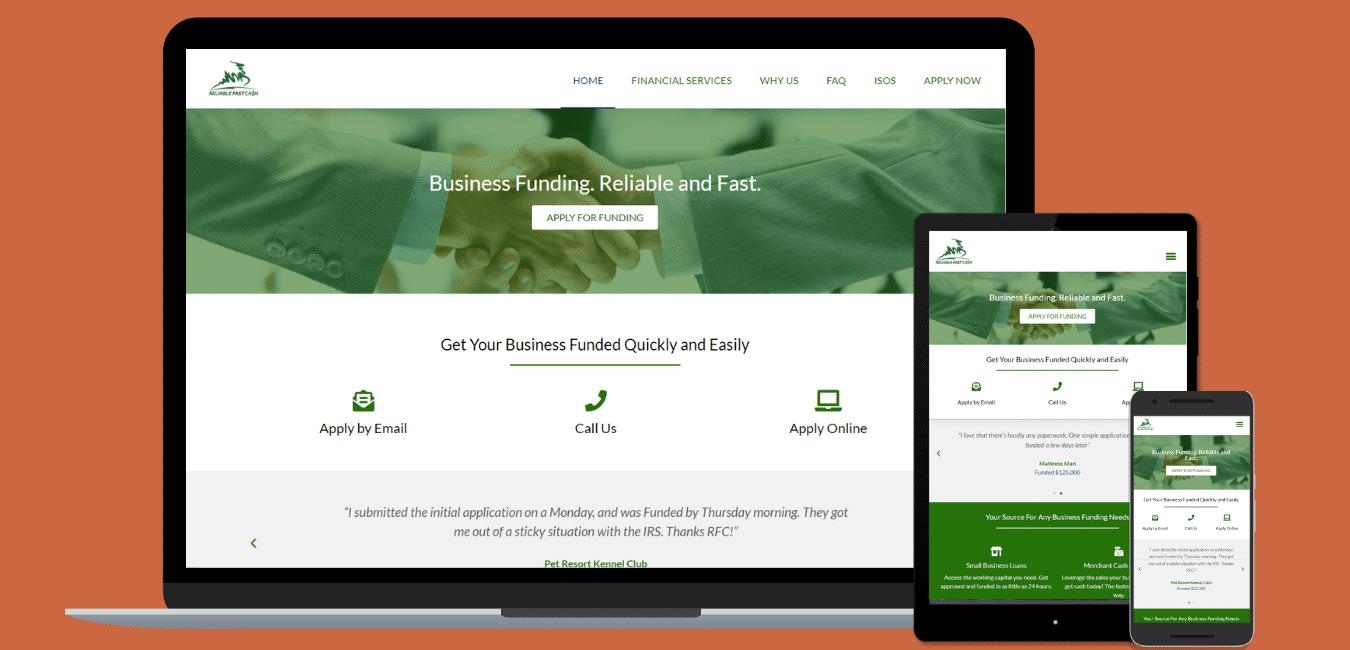 Reliable Fast Cash screenshots for portfolio