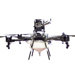 Hybrid crop spraying drone
