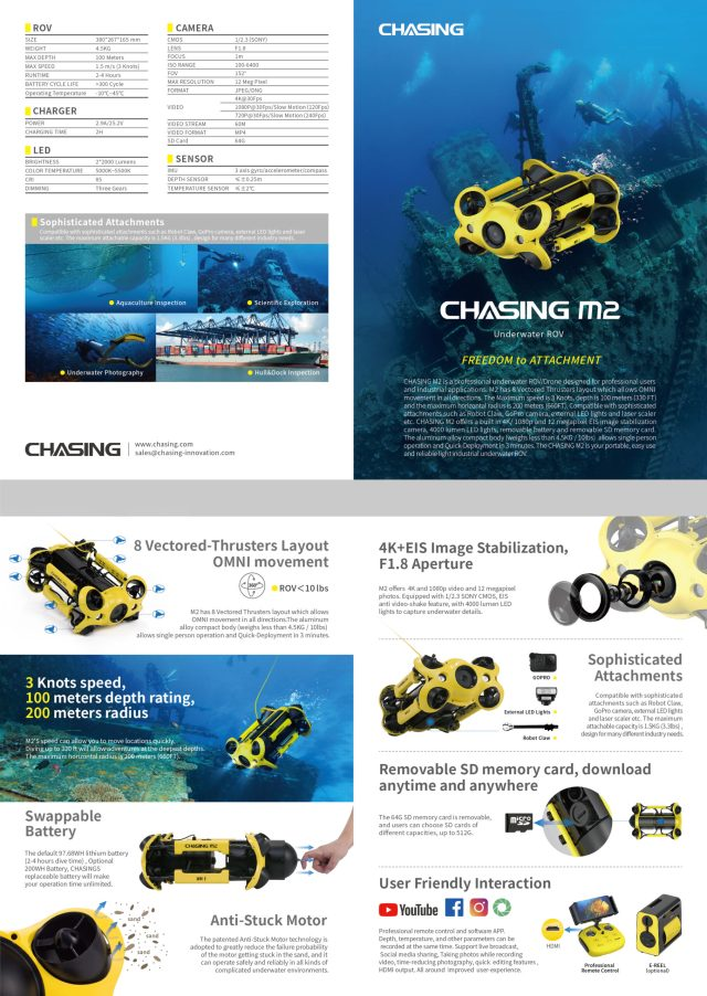 CHAISNG M2 Underwater Drone Brochure