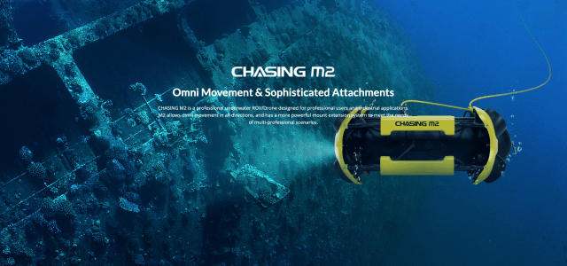 Chasing 2 industrial underwater drone for inspections