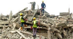 Trapped Man Rescued From Collapsed Lagos Building