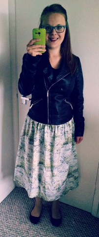 Waterfall skirt using Clemence pattern