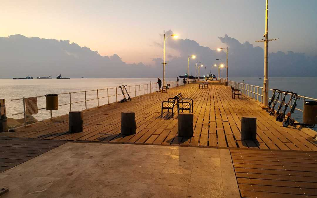 Early Morning walks in Limassol Promenade - Picture by Andrew Sharpe