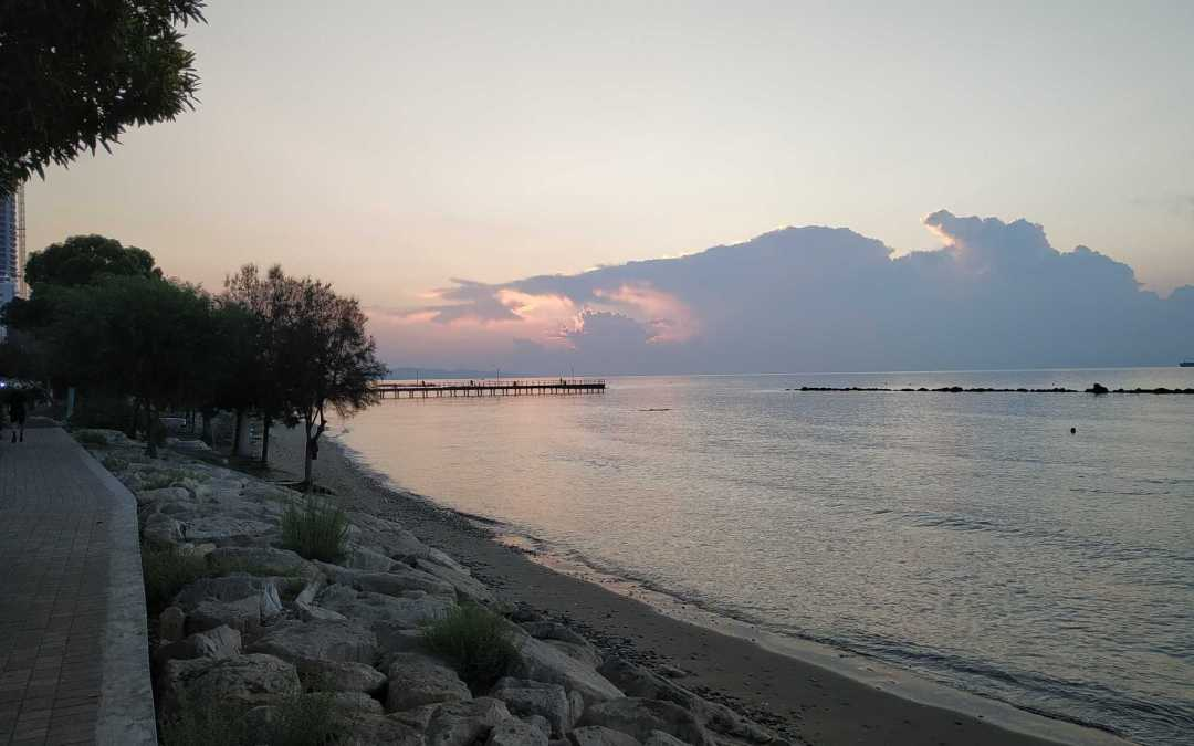 Walking in the side of the sea in Limassol is a daily routine