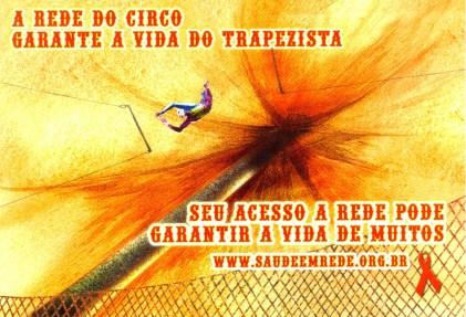 CARTÃO POSTAL - A REDE DO CIRCO - 2008 - FRENTE
