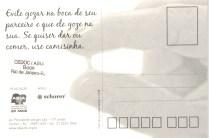 CARTÃO POSTAL - AMORES LÍQUIDOS TAMBÉM PODEM SER MAIS SEGUROS - VERSO- 2008