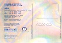 CARTÃO POSTAL - PROJETO JUVENTUDE E DIVERSIDADE SEXUAL - VERSO - 2005