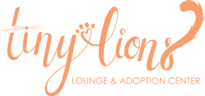 Tiny Lions lounge and adoption Center logo