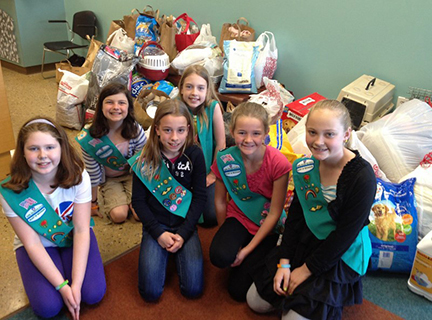 A group of Girl Scouts at HSHV