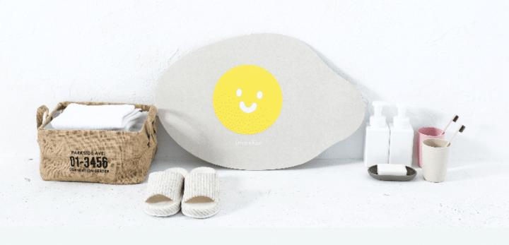 DreamKiss 微笑系列-珪藻土腳踏墊|早安晨之蛋|實測開箱