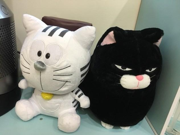 來自東京的 Toranomon (「虎之門Hills」的吉祥物),與來自逢甲的臭臉貓。告訴每一個想要從診間A走臭臉貓的朋友,今天在逢甲又看到貓貓上架了,喜歡請自己去買。謝謝~