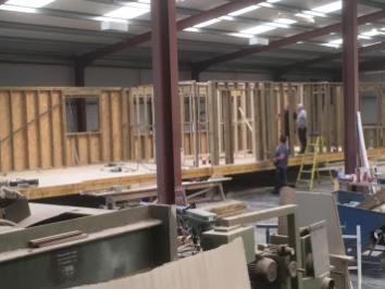 Modular home during build.