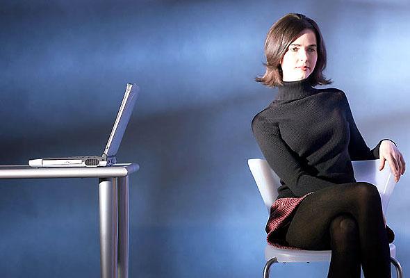 Kvinne med laptop