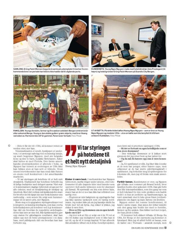 Young N. Nguyen, d2o, i temabilaget Kurs og konferanse fra Dagens Næringsliv (faksimile)