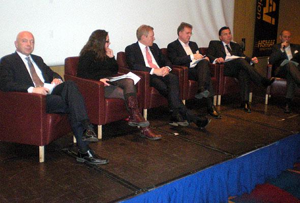 Panelet på HSMAI Reiselivsdagen, Radisson Blu Scandinavia Hotel i Oslo onsdag 1. desember 2010.