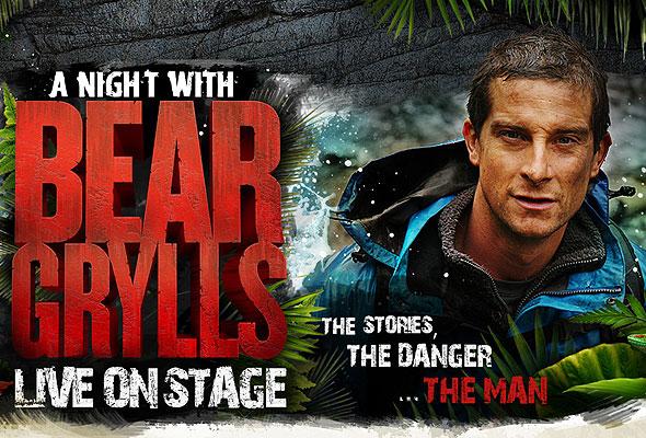 Bear Grylls on stage