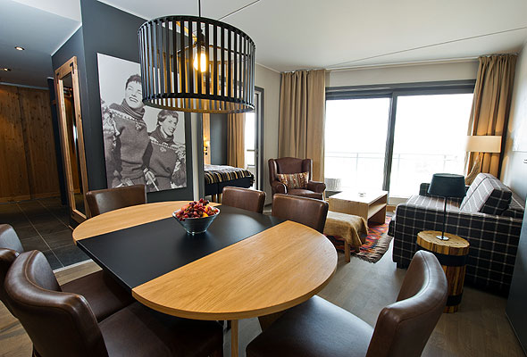 En av suitene på Park Inn Trysil Mountain Resort (foto fra The Rezidor Hotel Group)