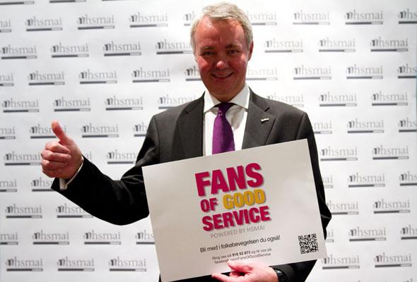 Lars Listhaug. Fans of good service