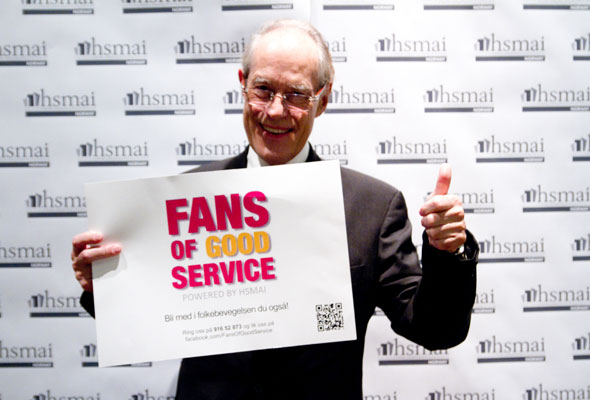 Leif Evensen. Fans of good service