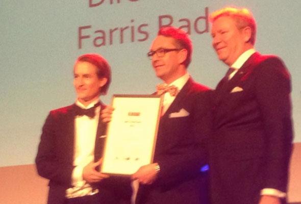 Espen Karlsen ble kåret til Årets hotelier torsdag 14. mars 2013
