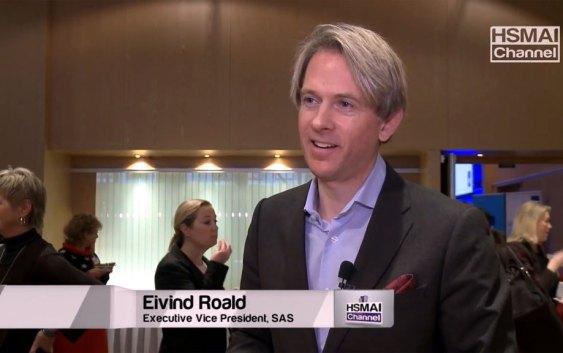 Eivind Roald, konserndirektør for kommersiell virksomhet i SAS (foto fra HSMAI Channel).