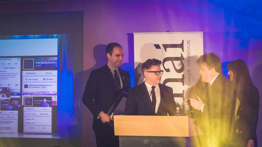 THE THIEF won the Public Relations prize at the HSMAI European Awards in London Tuesday night. Photographers: Gunnar Kopperud/Netta Nyman, PhotoWalk/Konferansefotografering
