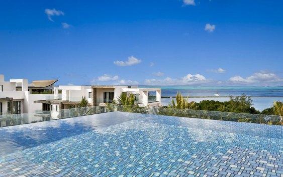 Utsikt over Det indiske hav, fra ett av Radisson Blus hoteller på Mauritius (foto fra Radisson Blu).
