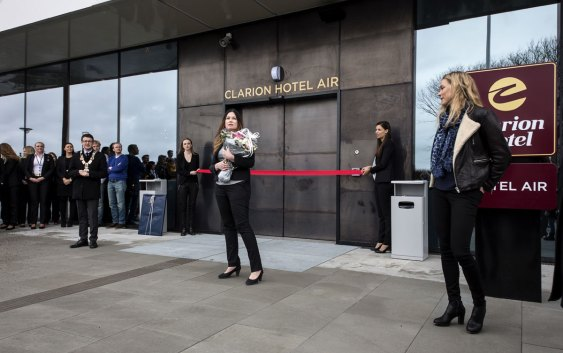Fra åpningen av Clarion Hotel Air. Foto fra Nordic Choice Hotels