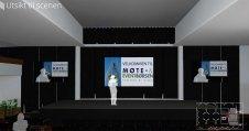 Scenen til HSMAI Møte- og Eventbørsen 2016, slik den er tenkt løst. Skissen er fremstilt av NPG.