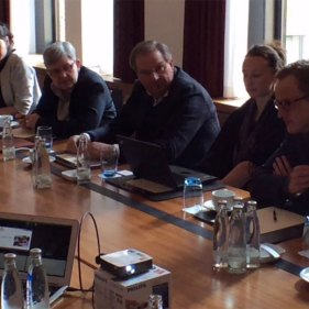 Diskusjon under HSMAI Region Europes Salgs-Think Tank for spesielt inviterte, i Berlin, mars 2016.