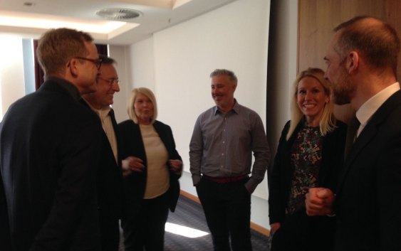 Diskusjon under HSMAI Region Europes Salgs-Think Tank for spesielt inviterte, i Berlin, mars 2016.