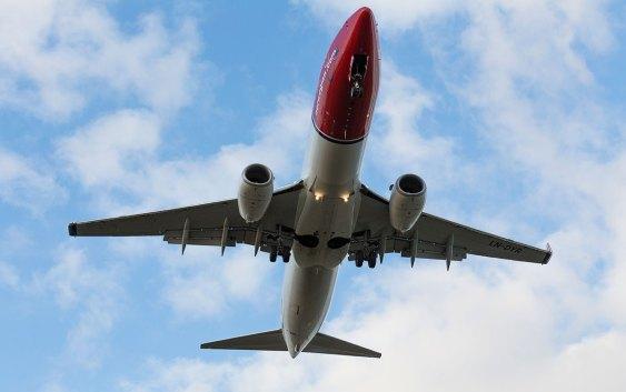 Boeing 737-800-maskin fra Norwegian. Fotograf: David Charles Peacock.