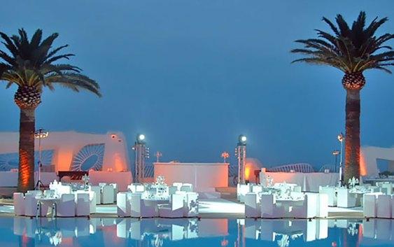 Fra uteområdet i Hôtel Club Port la Galère på Côte d'Azur. Foto fra hotellets hjemmeside.